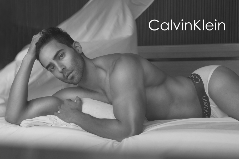 Stunning Mexican actor and model Felipe Meléndez builds up his portfolio with an eye-catching session by photographer Luis de La Luz, kindly share unpublished new photos for famous brand Calvin Klein Underwear #mycalvins the actor posses incredible hot with classic white CK briefs. Make up by Gio Lozano, Hair by Isabel Ontiveros.